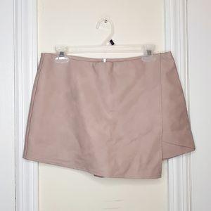 Kendall & Kylie Mauve Vegan Faux Leather Skort